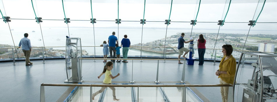Going to the top of Spinnaker Tower is just one of many great things to do in Hampshire