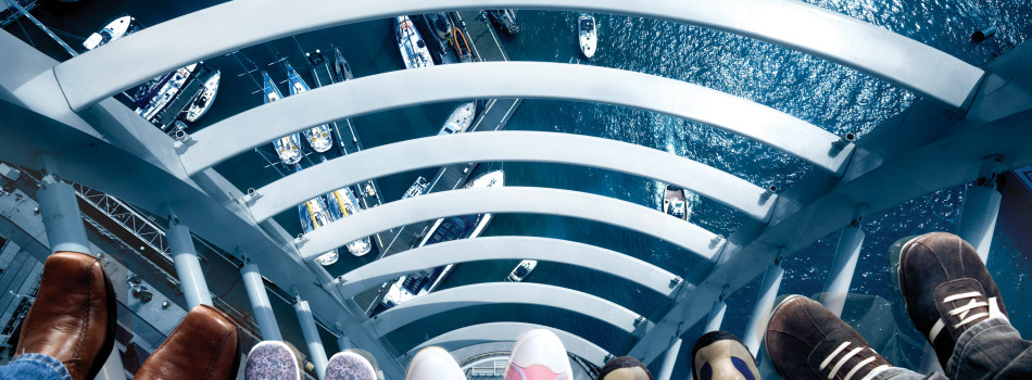 Up the Spinnaker Tower for things to do in Hampshire